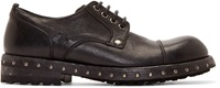 Dolce And Gabbana Black Heavy Derby Shoes