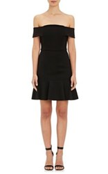 N Nicholas Women's Ponte Knit Off The Shoulder Dress Black