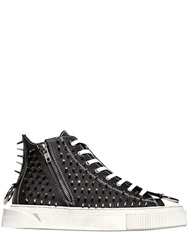 Gienchi Rubberized Leather High Top Sneakers