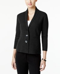 Alfani Petite Shawl Collar Blazer Only At Macy's Deep Black