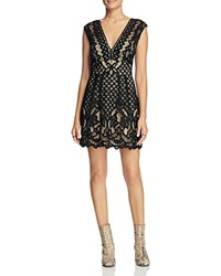 Free People One Million Lovers Lace Dress Black