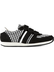 Carven Gingham Panelled Sneakers