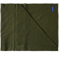 Comme Des Garcons Shirt Oversized Scarf Green