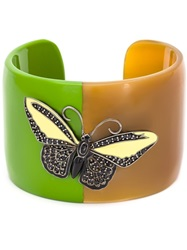 Mcl By Matthew Campbell Laurenza Butterfly Motif Horn Bangle Brown