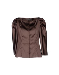 Alberta Ferretti Blazers Light Brown