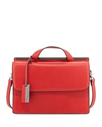 Christian Lacroix Melitea Flap Satchel Red