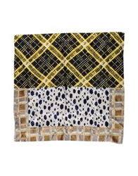 Monsieur Maison Square Scarves Dark Blue