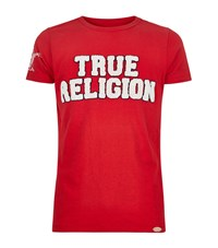 True Religion Terry Logo T Shirt Male Red