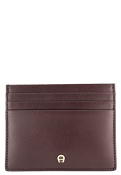 Aigner Business Card Holder Bordeaux