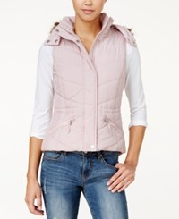 American Rag Faux Fur Trim Hooded Puffer Vest Only At Macy's Blush