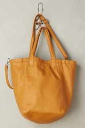 Anthropologie Reversible Vegan Leather Tote Maize