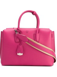 Mcm Small Tote Bag Pink And Purple