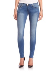 True Religion Casey Low Rise Super Skinny Jeans Electric Night