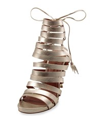 Carrano Aby Strappy Leather Sandal Gold