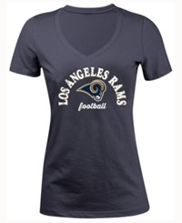 5Th And Ocean Women's Los Angeles Rams Checkdown Le T Shirt Navy