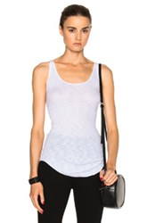 Enza Costa Rib Fitted Baseball Top In White