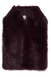 Iris And Ink Francesca Shearling Gilet Burgundy