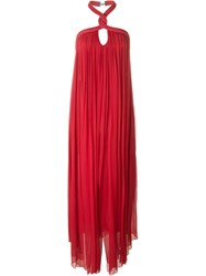 Jay Ahr Halterneck Evening Gown Red