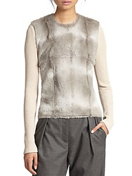 L'agence Wool Asymmetrical Front Sweater
