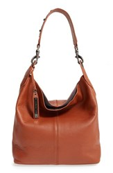 Via Spiga 'Alicia' Leather Hobo With Studded Strap Brown Whiskey