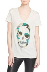 Women's Zadig And Voltaire Embellished Skull Tee