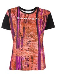 Carven Forest Print T Shirt Multicolour