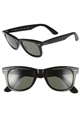 Ray Ban Men's 'Classic Wayfarer' 50Mm Polarized Sunglasses Black Green P Black Green P