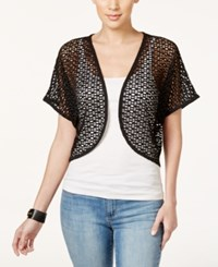 Styleandco. Style And Co. Cropped Shrug Cardigan Only At Macy's Deep Black