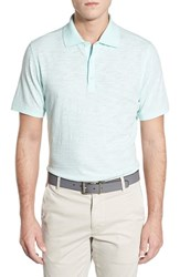 Ag Jeans Men's Ag Green Label 'Bryant' Trim Fit Slub Cotton Polo Bleached Aqua