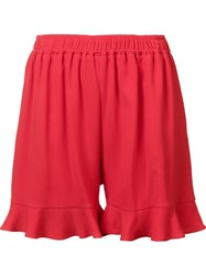 Stella Mccartney Ruffled Hem Shorts Red