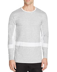 Zanerobe Broken Flintlock Color Block Tee Grey Marle White