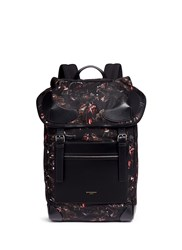 Givenchy 'Rider' Monkey Brothers Print Nylon Backpack Black
