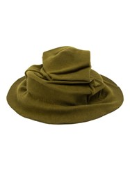 Horisaki Design And Handel Crumpled Wide Brim Hat Green