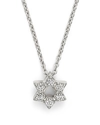 Roberto Coin 18K White Gold Star Of David Pendant Necklace With Diamonds 16