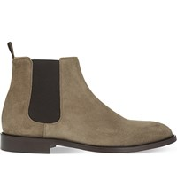 Reiss Tenor Suede Chelsea Boots Taupe