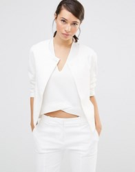 Lavand Cropped Boxy Jacket White