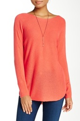14Th And Union Cashmere Shirttail Sweater Petite Red