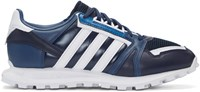 Adidas X White Mountaineering Navy Leather Racing 1 Sneakers