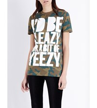 House Of Holland Yeezy Cotton Jersey T Shirt Camo
