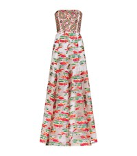 Andrew Gn Bead Top Strapless Gown Female Multi