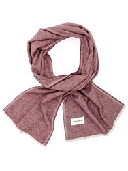 Oliver Spencer Burgundy Rover Scarf