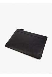 Ami Alexandre Mattiussi Black Grained Leather Document Wallet