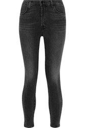 J Brand Alana Cropped High Rise Skinny Jeans Charcoal