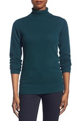 Women's Nordstrom Collection Cashmere Turtleneck Sweater Teal Deep