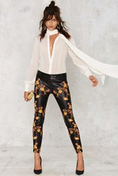 Nasty Gal Vine So Fine Embroidered Skinny Pants