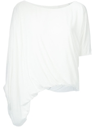 Tom Rebl Ruched Asymmetric T Shirt
