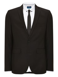 Burton Essential Slim Fit Suit Jacket Black
