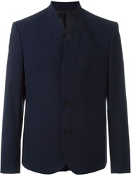 Carven Seersucker Blazer Blue