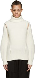 Cyclas Ivory Cut Out Turtleneck