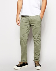 Abercrombie And Fitch Chinos In Slim Fit Olive